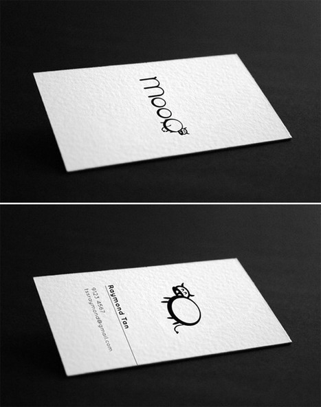 75 Minimal Business Cards Designs for Inspiration | Design Inspiration and Creative Ideas | Scoop.it