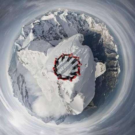 Drone Captures Incredible Photo of Nine Climbers on a Swiss Mountain Peak [PHOTO] | Positive climb | Scoop.it