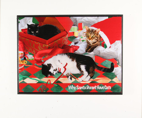 Cat Christmas Wall Art: Why Santa Doesn't Have Cats | Deborah Julian Art | Christmas Cat Ornaments and Cards | Scoop.it