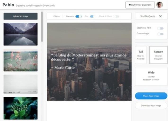 Pablo 2.0, l'outil idéal pour créer des images pour Facebook, Twitter, Instagram et Pinterest | Solutions locales | Scoop.it