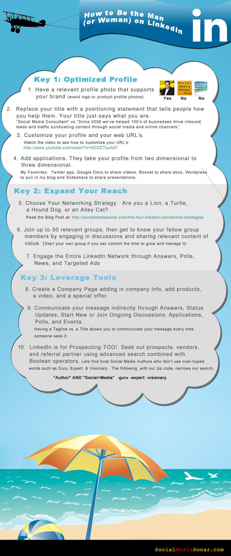 How to be the Man (Woman) on LinkedIn [INFOGRAPHIC] | Social-Network-Stories | Scoop.it