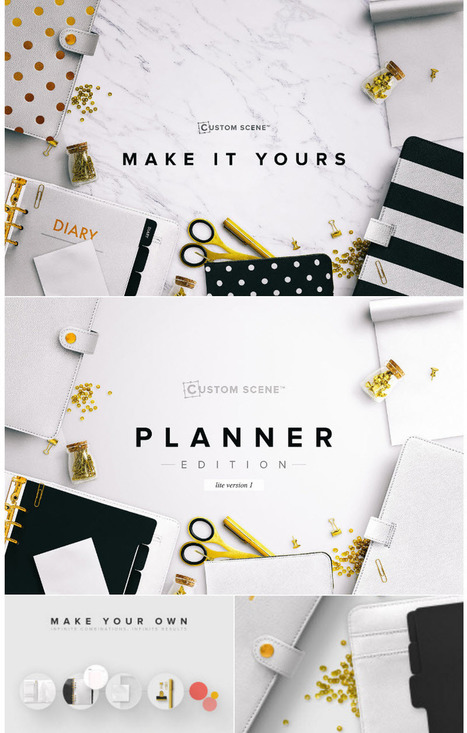 NEW! Planner Ed. - Custom Scene lite 1 • Realistic Top view scene mockup #deal | Design Freebies & Deals | Scoop.it