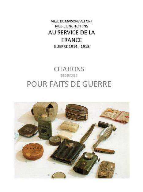 1914-1918 Citations pour faits de guerre à Maisons-Alfort | CGMA Généalogie | Scoop.it