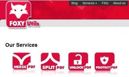 Fusionner, diviser, déprotéger et protéger en ligne des fichiers PDF, FoxyUtils | Time to Learn | Scoop.it
