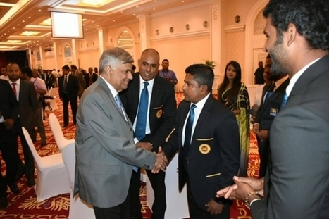 (Photos) Cricketers felicitated by Sri Lanka PM | Sri Lanka Cricket | Scoop.it