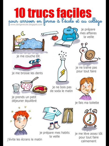 10 trucs faciles pour arriver en forme à l'école | FLE enfants | Scoop.it