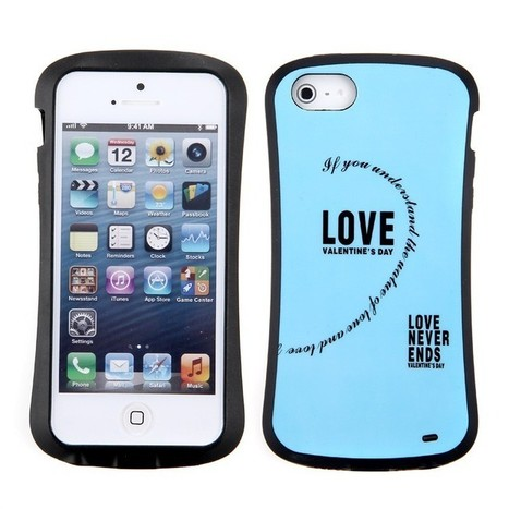 Soft Silicone Back Case Cover for iPhone 5 - LOVE Theme Pattern Blue - Free Shipping | Apple iPhone Accessories, iPad Accessories For Sale at Aurabuy -   Free Shipping | Scoop.it