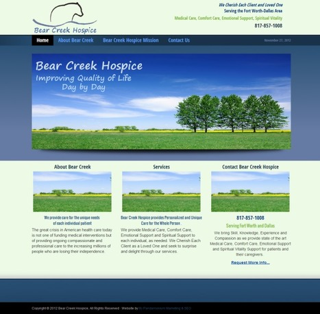 New Website: Bear Creek Hospice - DFW Websites by My Pandamonium Marketing-SEO| SEM| SMM| WP Training| | WordPress Websites by My Pandamonium Marketing-SEO, Dallas-Fort Worth | Scoop.it