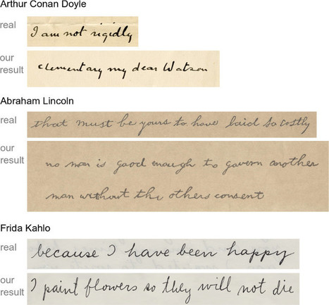My Text in Your Handwriting | Papers | Scoop.it
