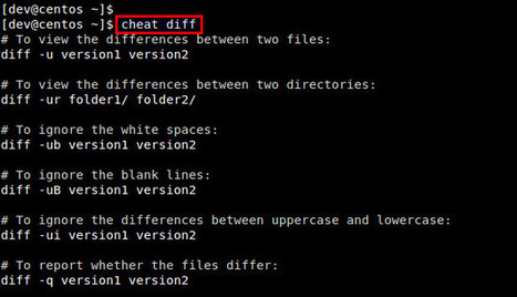 How to access Linux command cheat sheets from the command line | H4x0r5 Playground | Scoop.it