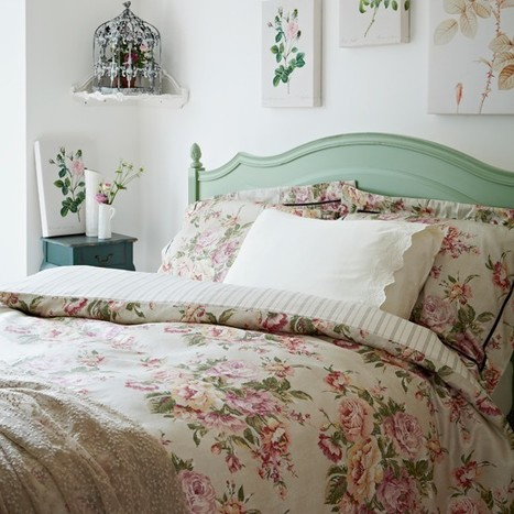 Floral country bedroom   Bedlinen   Scoop.it