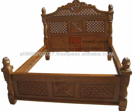 TRADITIONL JEPARA HAND CARVED FURNITURE BEDS, View Hand Carved Bed, TEAK BED KAWUNG CARVING Product Details from CV. JEPARA CRAFTER FURNITURE on Alibaba.com | Teak wood furniture | Scoop.it