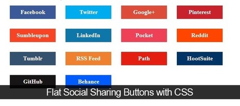 Creating Flat Social Sharing Buttons with CSS - Andor Nagy | Web Design | Scoop.it