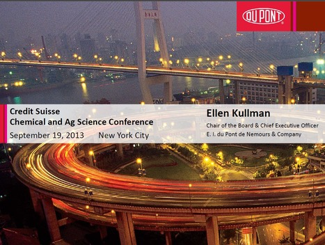 DuPont at Credit Suisse Chemical & Ag Science Conference | DuPont ASEAN | Scoop.it