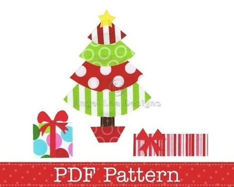 Christmas Tree and Presents Applique Template, Gifts, DIY. PDF Pattern by Angel Lea Designs, Instant Download Digital Pattern | Christmas gifts | Scoop.it
