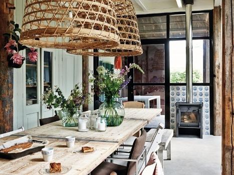Une cuisine moderne au look rustique chic | décoration & déco | Scoop.it
