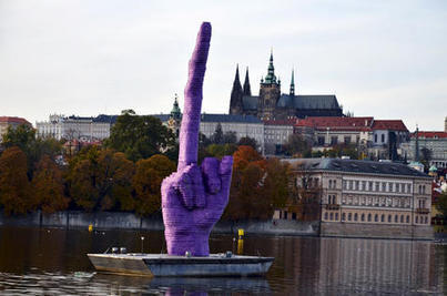 Artist David Cerny on sculpting giant middle finger aimed at Czech president - Metro.us | News | Scoop.it