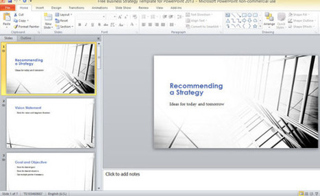Free Business Strategy Template For PowerPoint 2013 | PowerPoint Presentation | strategy | Scoop.it