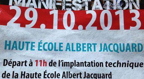 400 étudiants de la haute école Albert Jacquard manifestent à Namur   Jeunesse et orientations politiques   Scoop.it