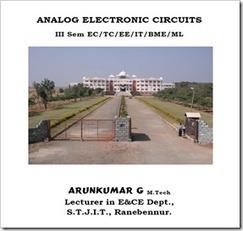 Analog Electronics Circuits Arunkumar Notes for VTU EC | aec | Scoop.it