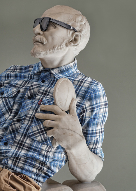 Des sculptures du Louvre relookées façon hipster « Plein Ecran | Muséologie et communication interculturelle | Scoop.it