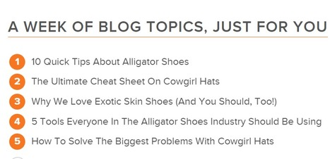 HubSpot's Blog Topic Generator | Content Marketing and Curation for Small Business | Scoop.it