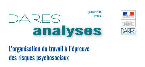 L'organisation du travail à l'épreuve des risques psychosociaux - Dares Analyses | Mooc Santé au travail (Estim) | Scoop.it