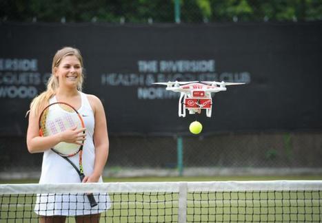 (Vidéo) Un drone pour s'entraîner au tennis | Une nouvelle civilisation de Robots | Scoop.it