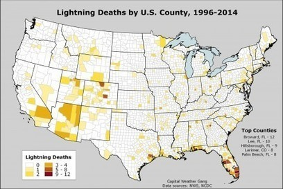 The areas most vulnerable to lightning fatalities in two maps - Washington Post (blog) | AP HUMAN GEOGRAPHY DIGITAL  STUDY: MIKE BUSARELLO | Scoop.it