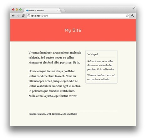 A Simple Website in Node.js with Express, Jade and Stylus by Ben Gourley | Javascript | Scoop.it