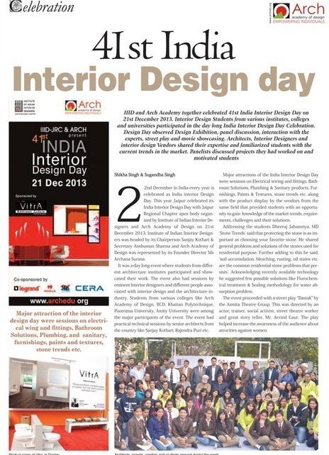 41st India – Interior Design Day | Arch Academy of Design | Interior Designing Courses | Scoop.it