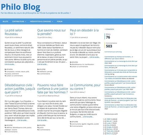 Exploration des potentialités d'un blogue d'élèves | Innovation et éducation aux médias numériques | Scoop.it