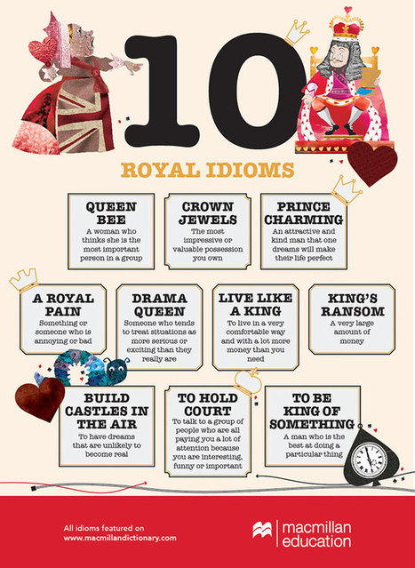 10 royal idioms infographic   FOTOTECA LEARNENGLISH   Scoop.it