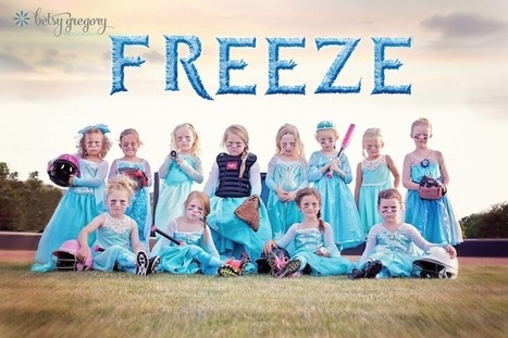 Little Girls' Softball League Empowers Others with Frozen-Themed Team Photo | Le It e Amo ✪ | Scoop.it