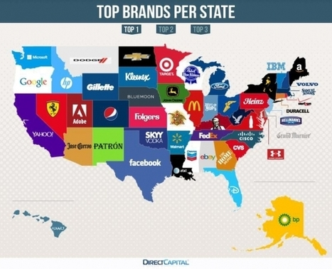 Map of US Shows Most Googled Brand in Each State | AdWeek | Public Relations & Social Media Insight | Scoop.it