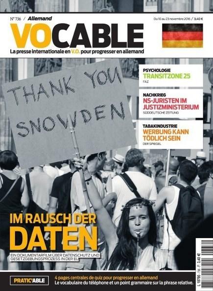 Vocable Allemand n° 736 du 10 novembre 2016 | les revues au CDI | Scoop.it