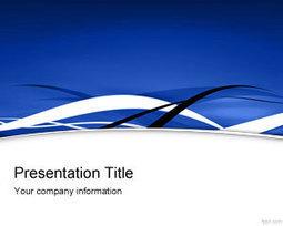 Blue Fringe PowerPoint Template | Free Powerpoint Templates | sanskriti | Scoop.it
