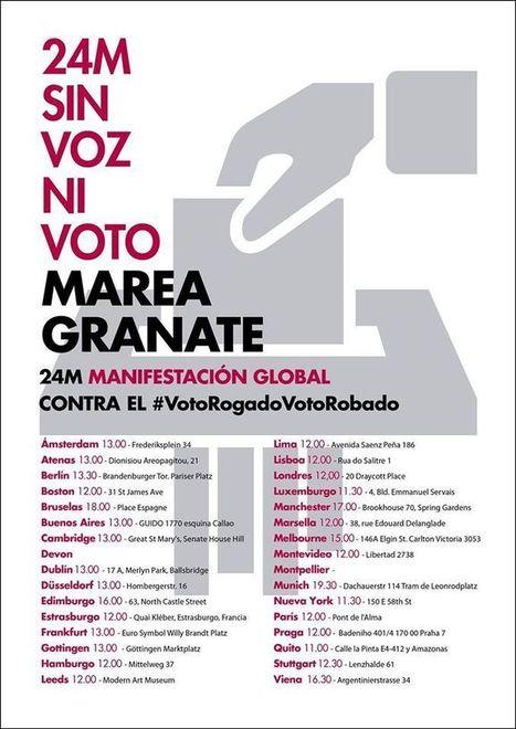 Emigrantes españoles se manifiestan en 33 ciudades de todo el mundo para que no les roben el voto | La R-Evolución de ARMAK | Scoop.it