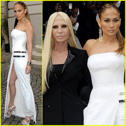 Jennifer Lopez Is White Hot at Atelier Versace Fashion Show! - Just Jared | Best of Fashion 2013 | Scoop.it