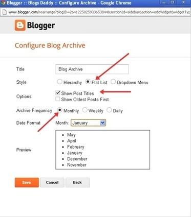 Customize Blogger's Official Blog Archive Calendar Widget - Blogs Daddy | Blogger Tricks, Blog Templates, Widgets | Scoop.it