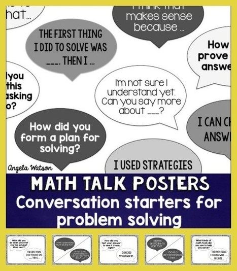 How to use math talk cards/posters to promote student-led discussions | Supporting Problem Based Instruction | Scoop.it