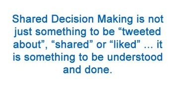 Shared Decision-Making Needs To Be Done ... Not Just Tweeted About - Mind The Gap   Co-creation in health   Scoop.it
