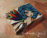 ORIGINAL Fairy Fantasy Fairy Spring ACEO Block Acrylic PAINTING ATC Art Hannah | Art* | Scoop.it