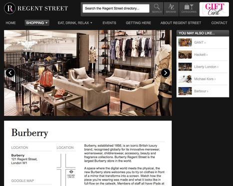 Regent Street London | Shopping | Restaurants | Events | Digital Portfolio by Small Back Room | Scoop.it
