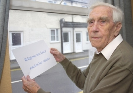 UPDATE: Strong reaction to story of pensioner who vows to defy police advice and display poster labelling religions as 'fairy stories' - Local - Boston Standard | The Global Village | Scoop.it