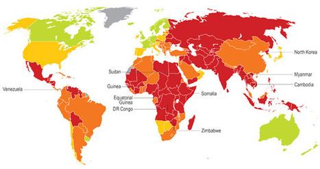 Mapa de la corrupción, según el estudio de Maplecroft. - El Mundo.es   Julio Díaz   Scoop.it