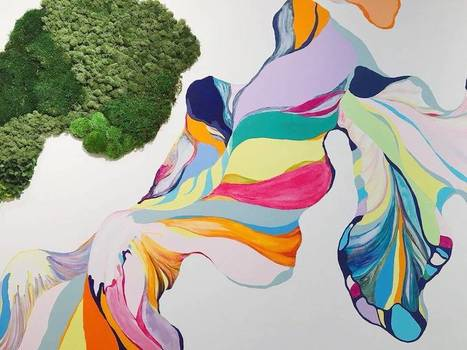New #Painted & #Vegetal #Mural by Sun Young Min #art #painting | Luby Art | Scoop.it