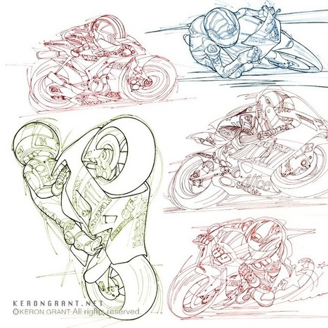 Keron Grants's Illustrations | Vintage Motorbikes | Scoop.it
