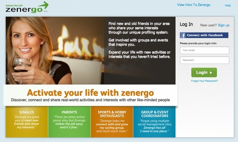 Zenergo Launches Social Network For Real World Activities | Organizing Offline | Social Media Content Curation | Scoop.it