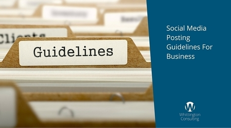 Social Media Posting Guidelines For Business | MarketingHits | Scoop.it